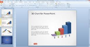 Free 3d Concept Bar Chart Design For Powerpoint Free Powerpoint Design For Powerpoint