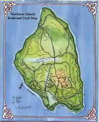map of mackinac island mackinak island road and trail map mappery