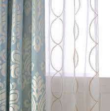 Sheer Embroidered Curtains A Pair Of Gold Leaf Infinity Patterned Embroidey Sheer