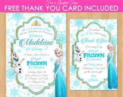 frozen birthday invitation elsa frozen invitation printable
