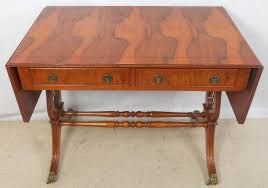 Yew Side Table Yew Sofa Table In Antique Regency Style