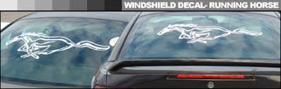 mustang windshield decal mustang decals autothing com mustang decals and logos for