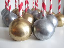 metallic gold and silver cake pops christmas in july cake pop