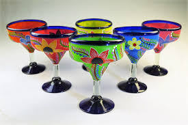 martini glass painting mexican margarita glass 15oz hand painted pop designs made in