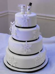 Winter Wedding Cakes Winter Wedding Cake Weddingbee