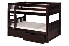 Bunk Beds With Storage Drawers by Amazon Com Camaflexi Mission Style Solid Wood Low Bunk Bed With