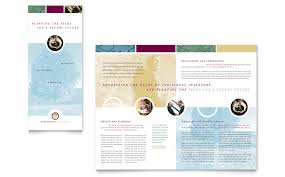 tri fold powerpoint template financial consulting tri fold