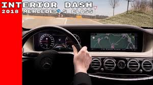 mercedes dashboard 2017 2018 mercedes s class interior dash youtube