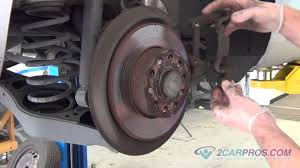rear brake pads u0026 brake rotor replacement volkswagen jetta 2005