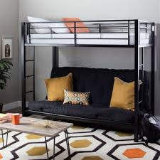 white metal twin futon bunk bed free shipping today overstock