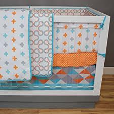 amazon com dk leigh modern geometric 5 piece gender neutral crib