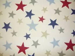 Star Blinds Marsons Funky Stars Curtain Fabric Material Blinds Red White Blue