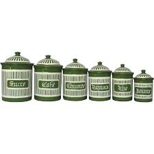 kitchen canisters green complete set of french green enamel canisters early 1900s from