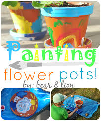 painting flower pots