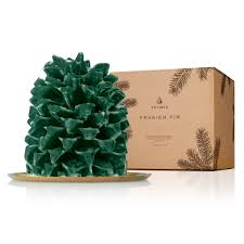 thymes frasier fir thymes frasier fir large molded pinecone candle candles