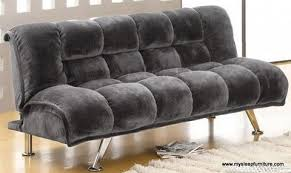Klik Klak Sofas 1513 Grey Fabric Klik Klak Sofa Bed With 2 Pull Out Legs In The