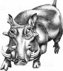 halo warthog drawing wartog illustration stock photo istock