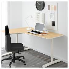 Office Corner Desks by Bekant Corner Desk Left Birch Veneer White 160x110 Cm Ikea