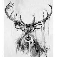 compare prices on moose wall decor online shopping buy low price j0399 massive stag deer moose graffiti grey black drawing pop 14x21 24x36 inches silk art