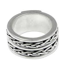 silver band men s rings