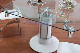furniture modern glass top extendable dining table home sweet