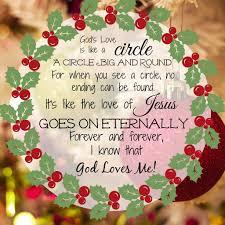 song to accompany christmas wreath craft god u0027s love is like a