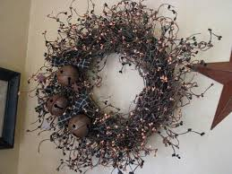 20 grapevine wreath with bells primitive quilt shop