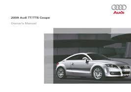 2009 audi tts coupe u2014 owner u0027s manual u2013 322 pages u2013 pdf
