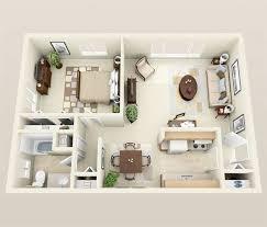 One Bedroom Aprox M Plans Pinterest Bedrooms - One bedroom apartments interior designs