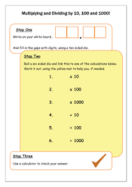 number names worksheets multiply and divide by 10 and 100
