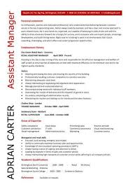 Job Description In Resume by Assistant Manager Resume Best Business Template