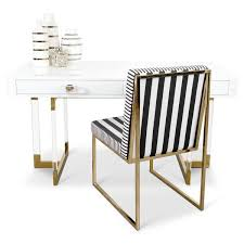 Desk Modern Modern Desks Lucite White Lacquer Wood More Modshop