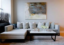stylish living room decoration with grey furniture sofa l shaped