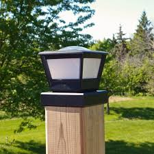 solar lights fence post solar light by free light 5x5 and 6x6 post cap solar