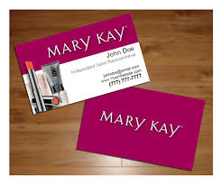 designs sample mary kay business card with mary kay business