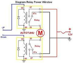 wiring diagram relay power window rangkaian relay power window