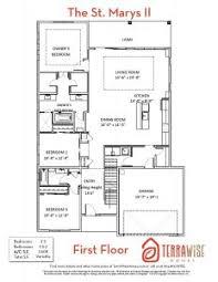 the st marys ii u2013 2608sf 4br 3ba 2 story terrawise homes