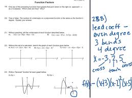 Graphing Polynomial Functions Worksheet Showme Missing Factors Precalculus Worksheet Key