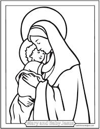free christmas coloring pages mary jesus printable prayers