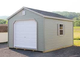 Single Car Garage by Custom Single Car Garages Mini Barns Storage Sheds Garages