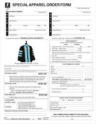 9 apparel order form templates no free word pdf excel format