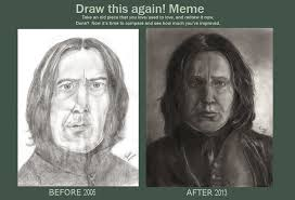 Before And After Meme - before after a severus drawing meme by karysky on deviantart