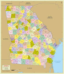 ga zip code map buy zip code map with counties
