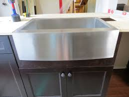kitchen fabulous stainless steel apron front sink with dark