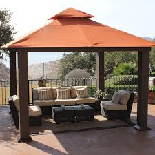 12x12 Patio Gazebo Outdoor Patio Tent Stylish Stc 12 X 12 Ft Seville Gazebo Walmart