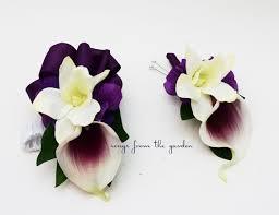 picasso calla real touch picasso calla white orchid boutonniere corsage