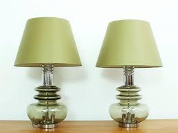 german glass u0026 chrome table lamps from doria leuchten 1960s set