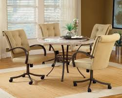 Dining Room Chair Casters Kitchen Kitchen Chairs With Casters With Regard To Artistic