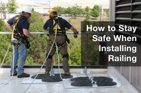 Temporary Handrail Systems How To Stay Safe When Installing Railing Fall Protection Blog