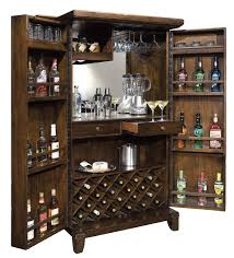 Wine Bar Cabinet Furniture Funiture Stand Alone Bar Cabinet Made Of Wood Combined With Grey